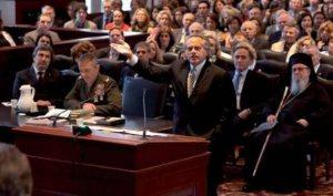 Στιγμιότυπο από τη δίκη του Σωκράτη τον Μάιο του 2011 στη Νέα Υόρκη.